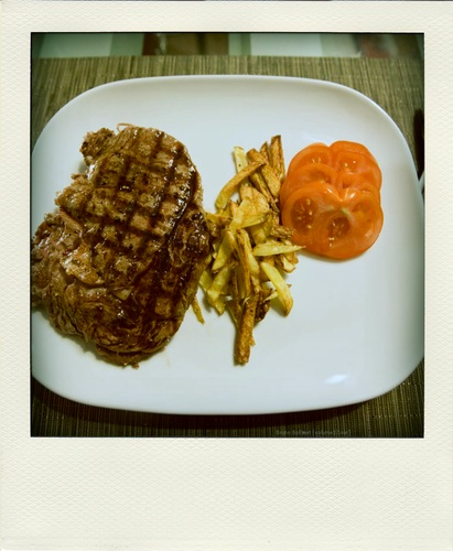 Steak met frietjes