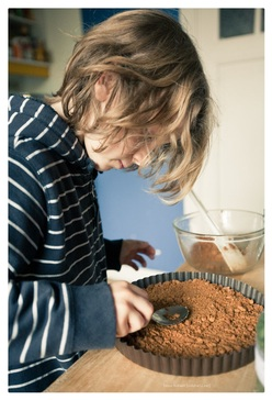 Chocoladetaart (met speculaaskorst)
