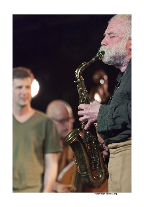 Peter Brötzmann Chicago Tentet door Bruno Bollaert