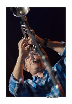Dave Douglas op Jazz Middelheim door Bruno Bollaert