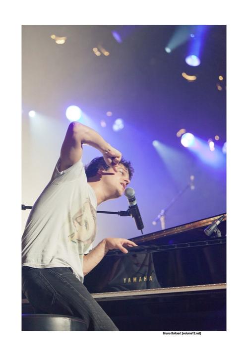 Jamie Cullum op Jazz Middelheim door Bruno Bollaert
