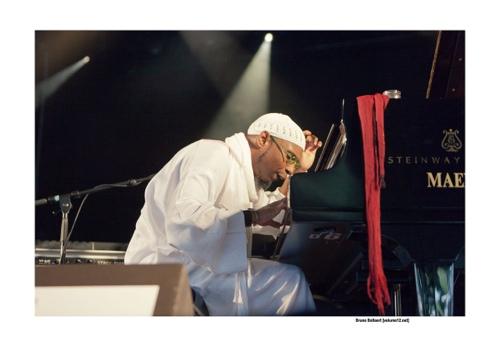 Omar Sosa op Jazz Middelheim door Bruno Bollaert