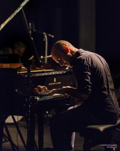 Shai Maestro Trio: Shai Maestro (piano), Jorge Roeder (contrabas), Ziv Ravitz (drums) // (c) Bruno Bollaert / WahWah vzw